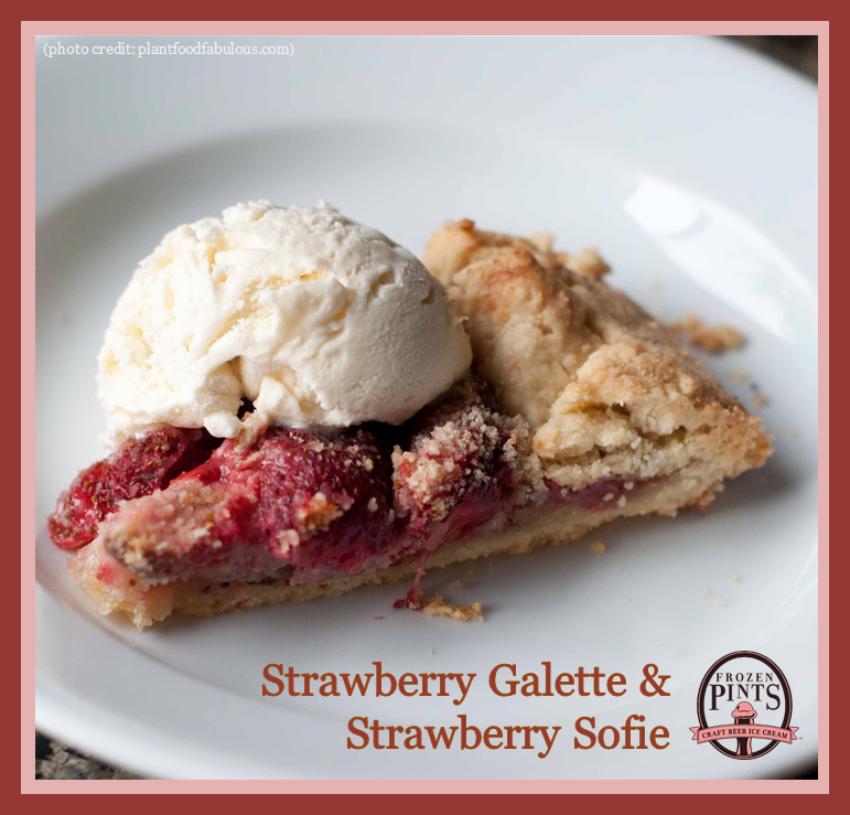 Strawberry Galette and Strawberry Sofie